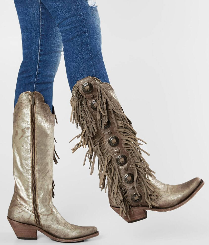 fd6043ea4d2 Liberty Black Ophelia Fringe Leather Western Boot - Women's Shoes in ...