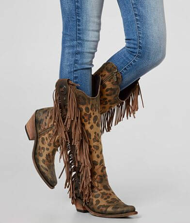 Liberty Black Ophelia Leather Western Boot