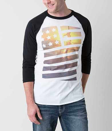 Bowery Apparel Stars & Stripes Girl T-Shirt