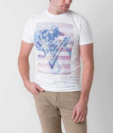 Bowery Apparel Triangle Flag Girl T-Shirt