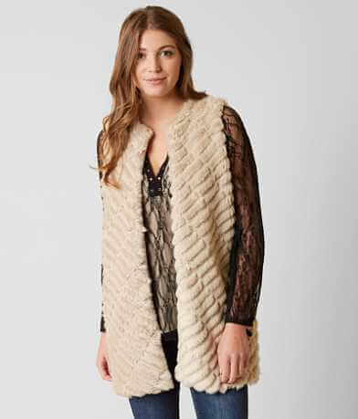 BKE Boutique Faux Fur Vest