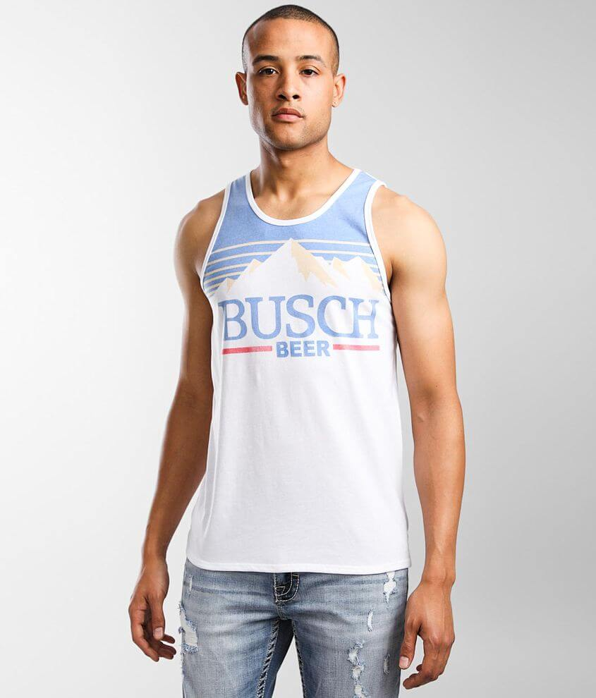 Brew City Busch Beer Vintage Tank Top front view
