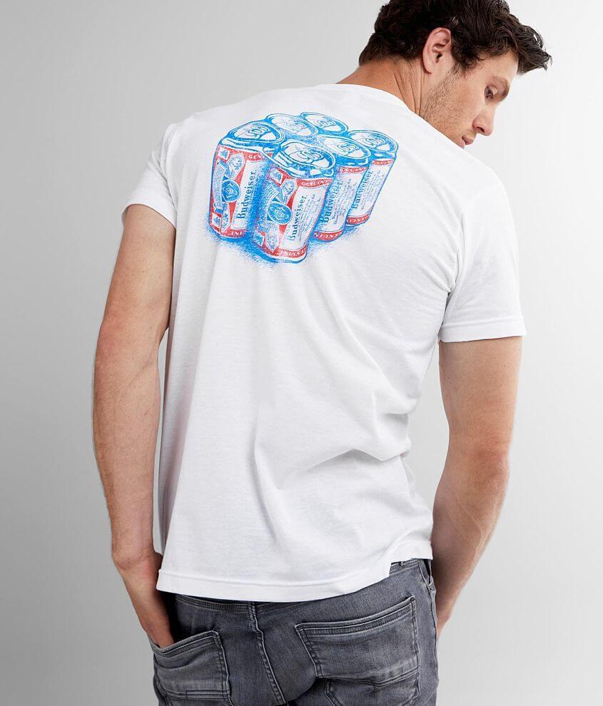 Brew City Budweiser® 6 Pack T-Shirt front view