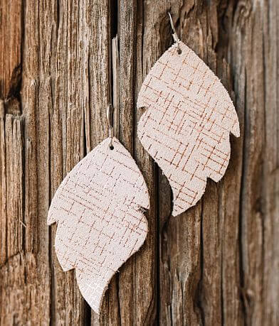 Briar Rose Metallic Leather Earring