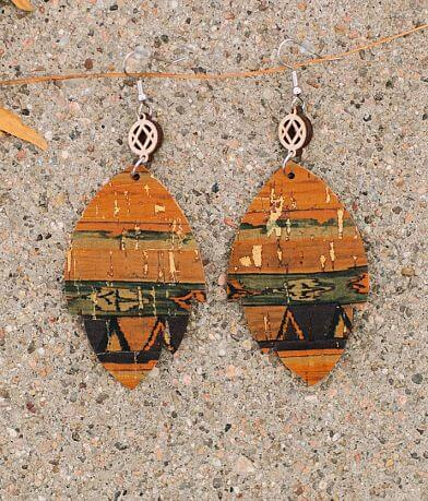 Briar Rose Foiled Southwestern Leather Earring