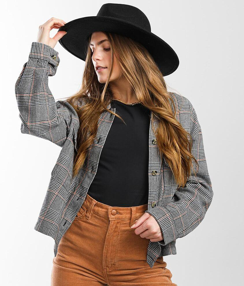 Brixton Bowery Flannel Cropped Jacket front view