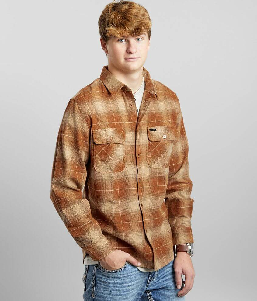 Brixton Bowery Flannel Shirt front view