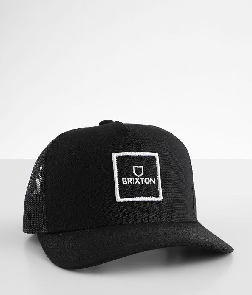 Brixton Alpha Block Trucker Hat front view