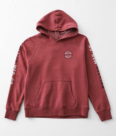 Boys - Brixton Crest Hooded Sweatshirt