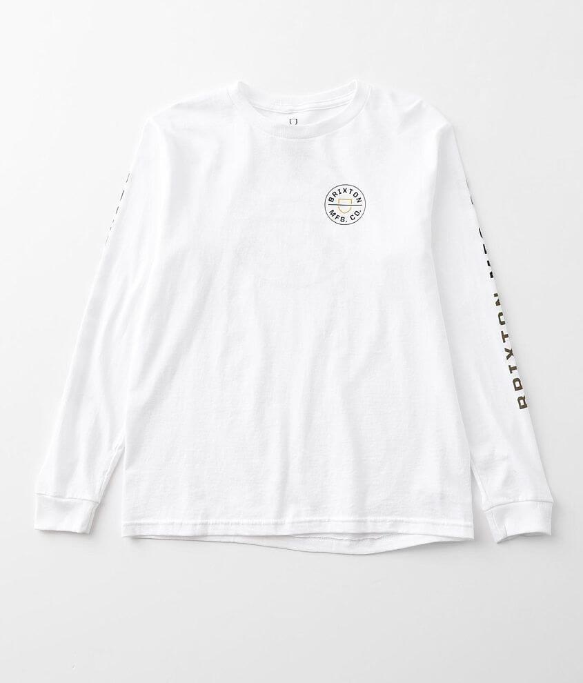 Boys - Brixton Crest T-Shirt front view