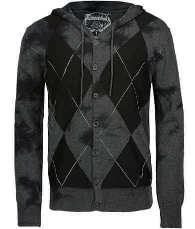 Buckle Black Argyle Cardigan Sweater