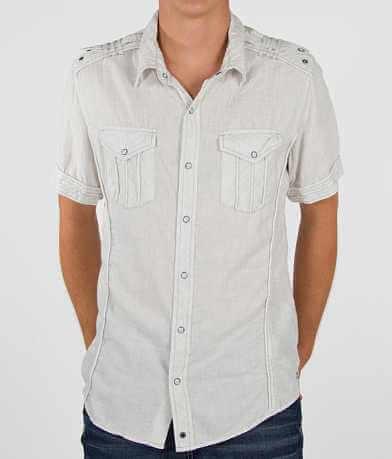 Buckle Black Epaulet Shirt