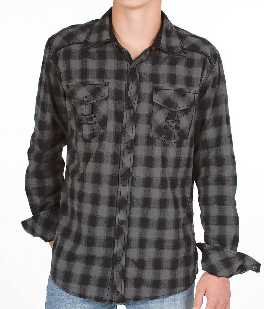 Buckle Black Hold Shirt front view