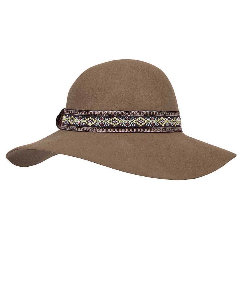 Broner Wide Brim Felt Hat front view