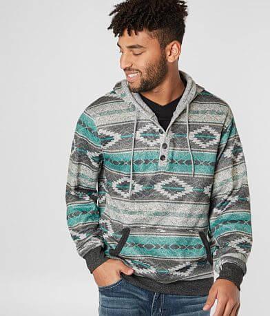 Brooklyn Cloth Cozy Baja Hooded Henley Sweatshirt