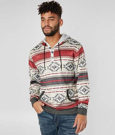 Brooklyn Cloth Desert Striped Henley Sweatshirt