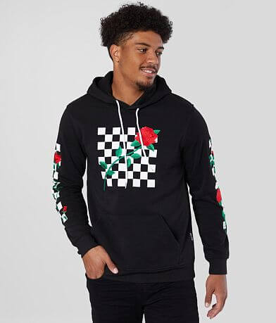 Brooklyn Cloth Checkered Rose Hooded Sweatshirt
