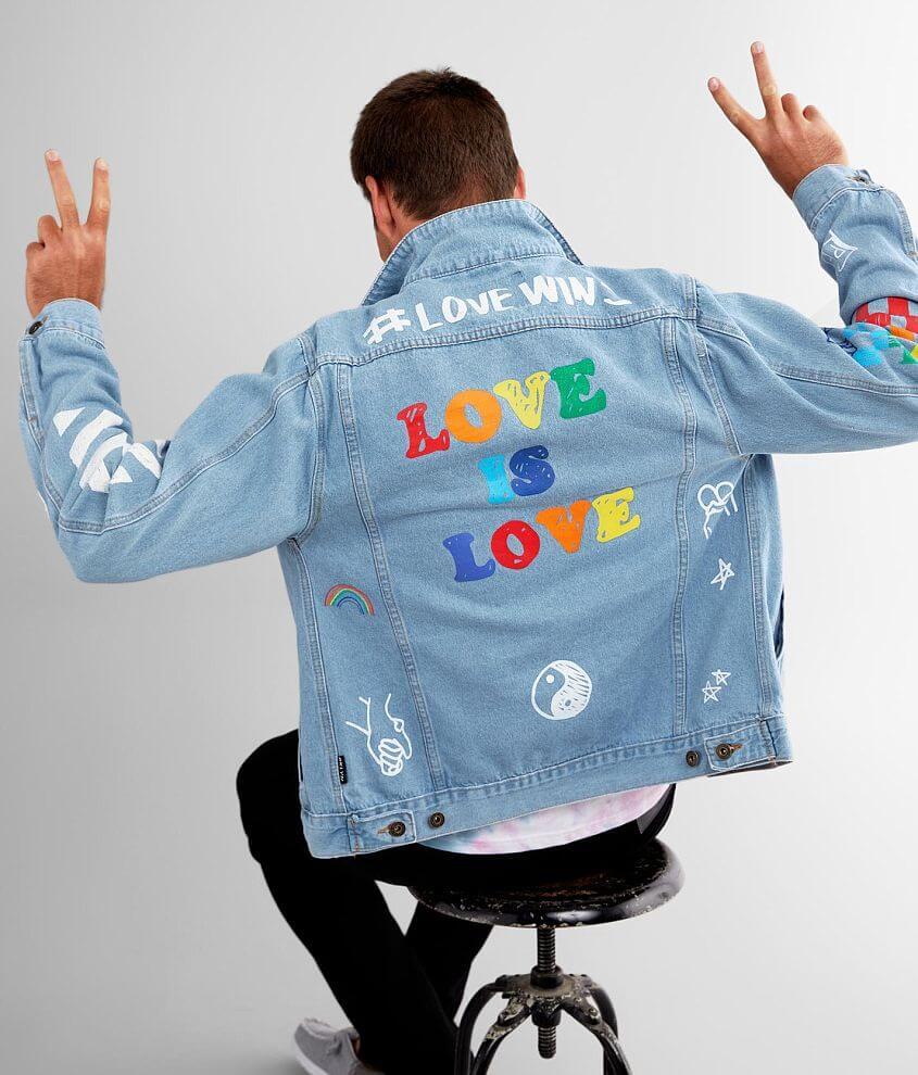 Brooklyn Cloth Pride Doodle Denim Jacket front view