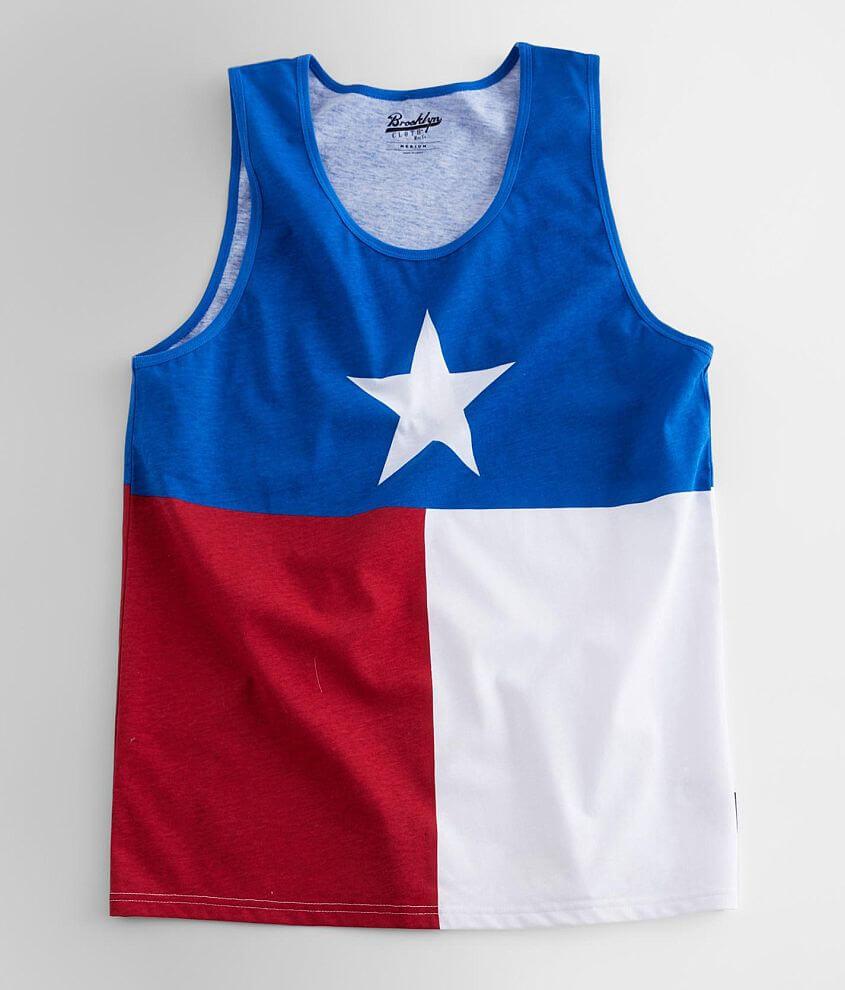 Brooklyn Cloth Texas Flag Tank Top front view