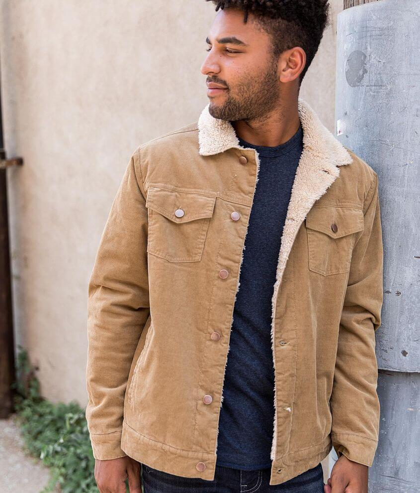 Sherpa lined button front jacket Model Info: Height: 6\\\'0\\\