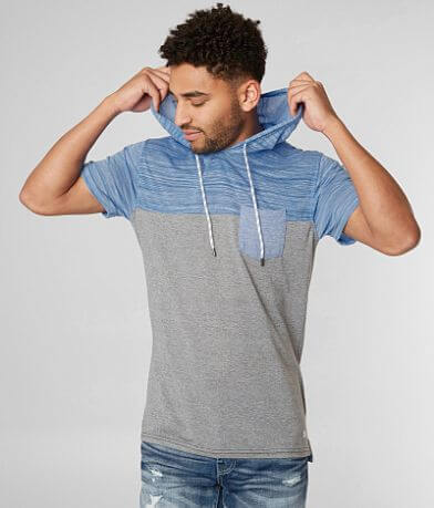 Departwest Color Block Hooded T-Shirt