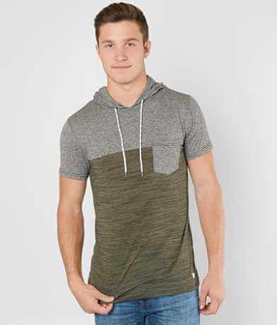 Departwest Color Block Hooded T-Shirt