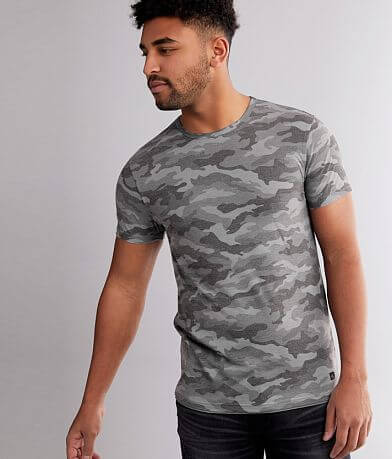 Departwest Camo Elongated Step Hem T-Shirt