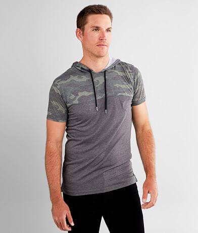 Departwest Camo Color Block Hooded T-Shirt