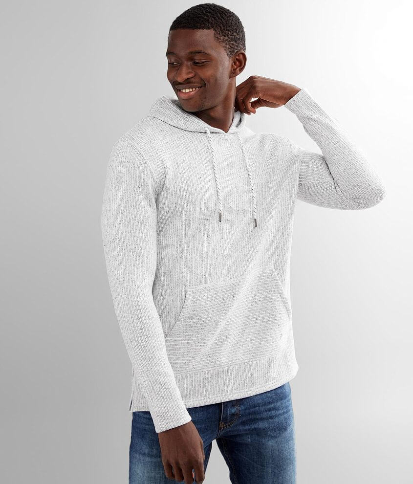 Departwest Cozy Sweater Knit Hooded Sweatshirt front view