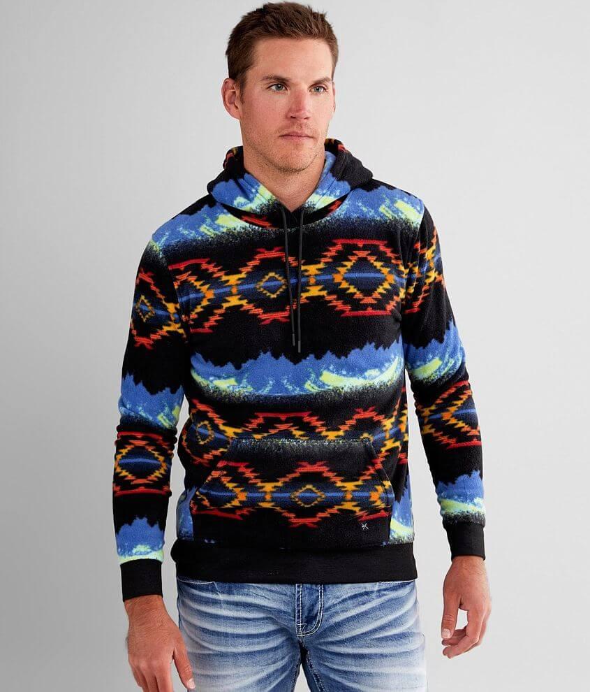 Departwest Cozy Fleece Hooded Sweatshirt front view
