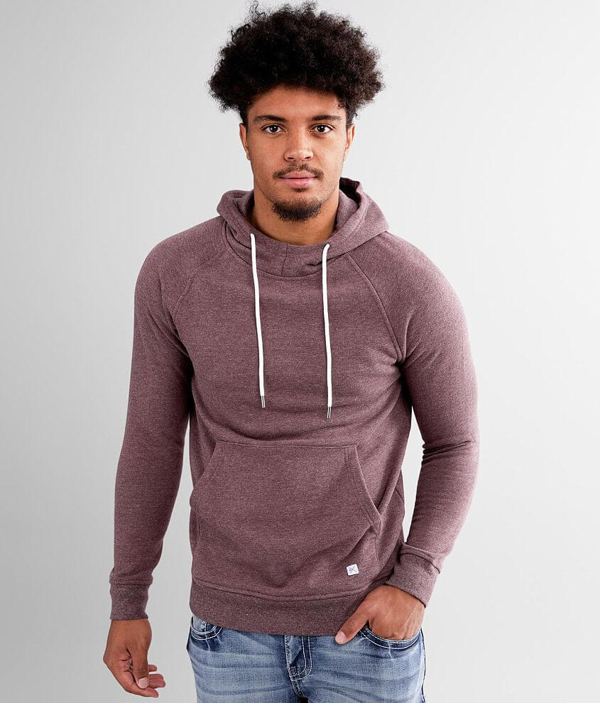 Departwest Heathered Knit Hooded Sweatshirt front view