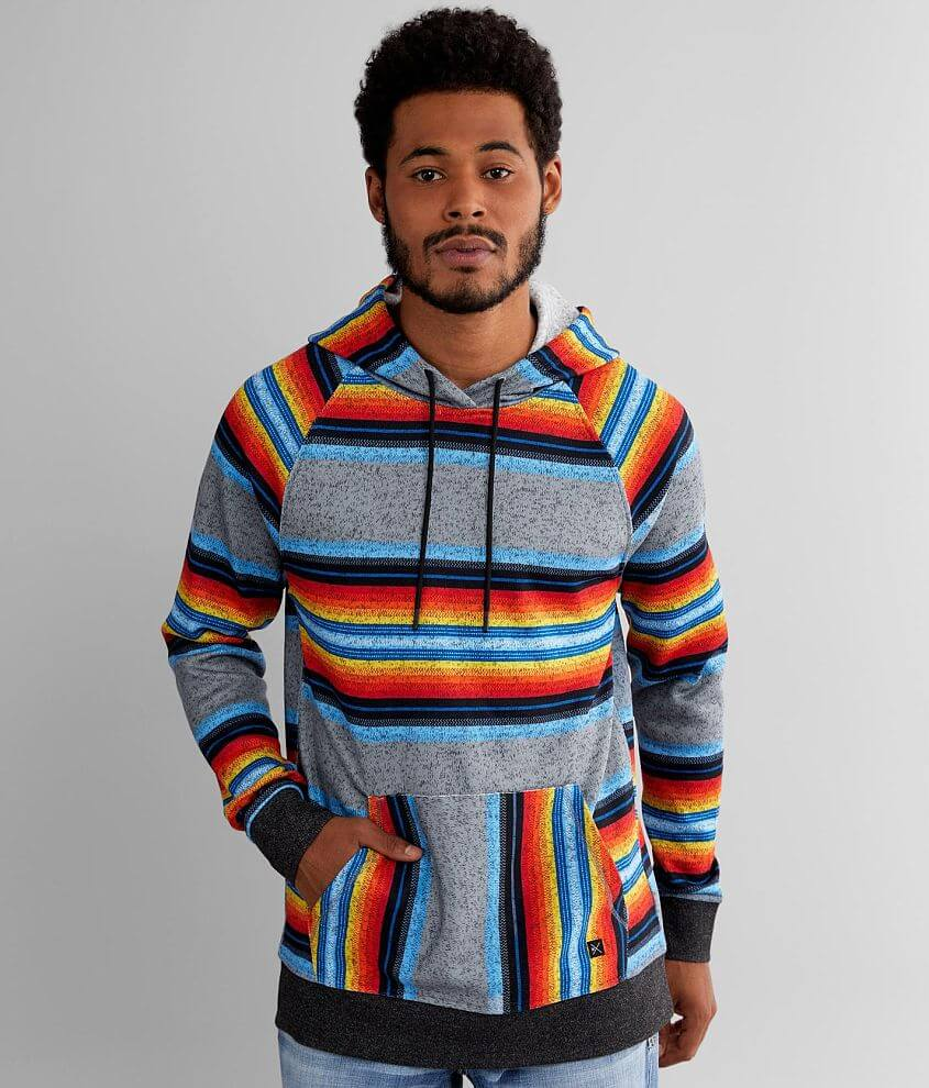 Departwest Cozy Striped Hoodie front view