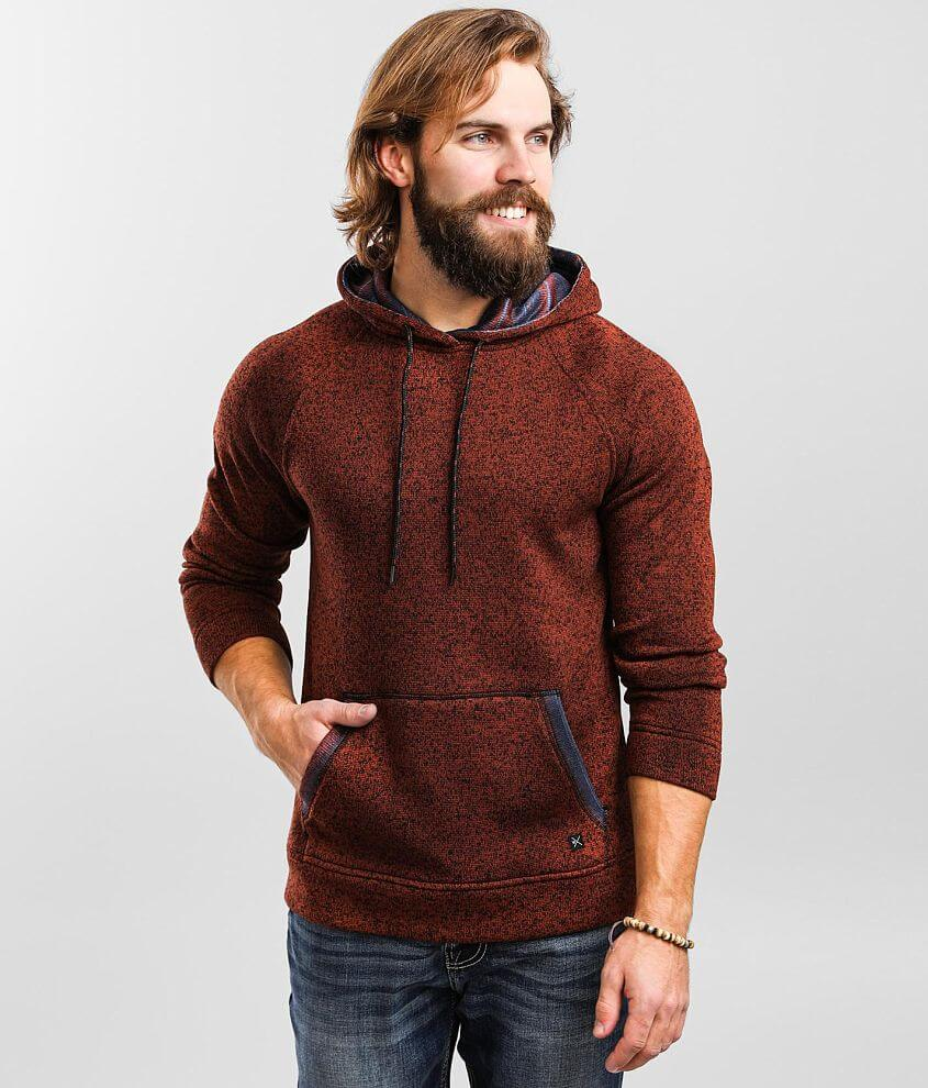 Departwest Spike Stripe Hooded Sweatshirt front view
