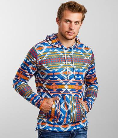 Departwest Southwestern Print Hooded Sweatshirt