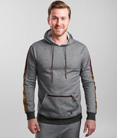 Departwest Pieced Nylon Hooded Sweatshirt