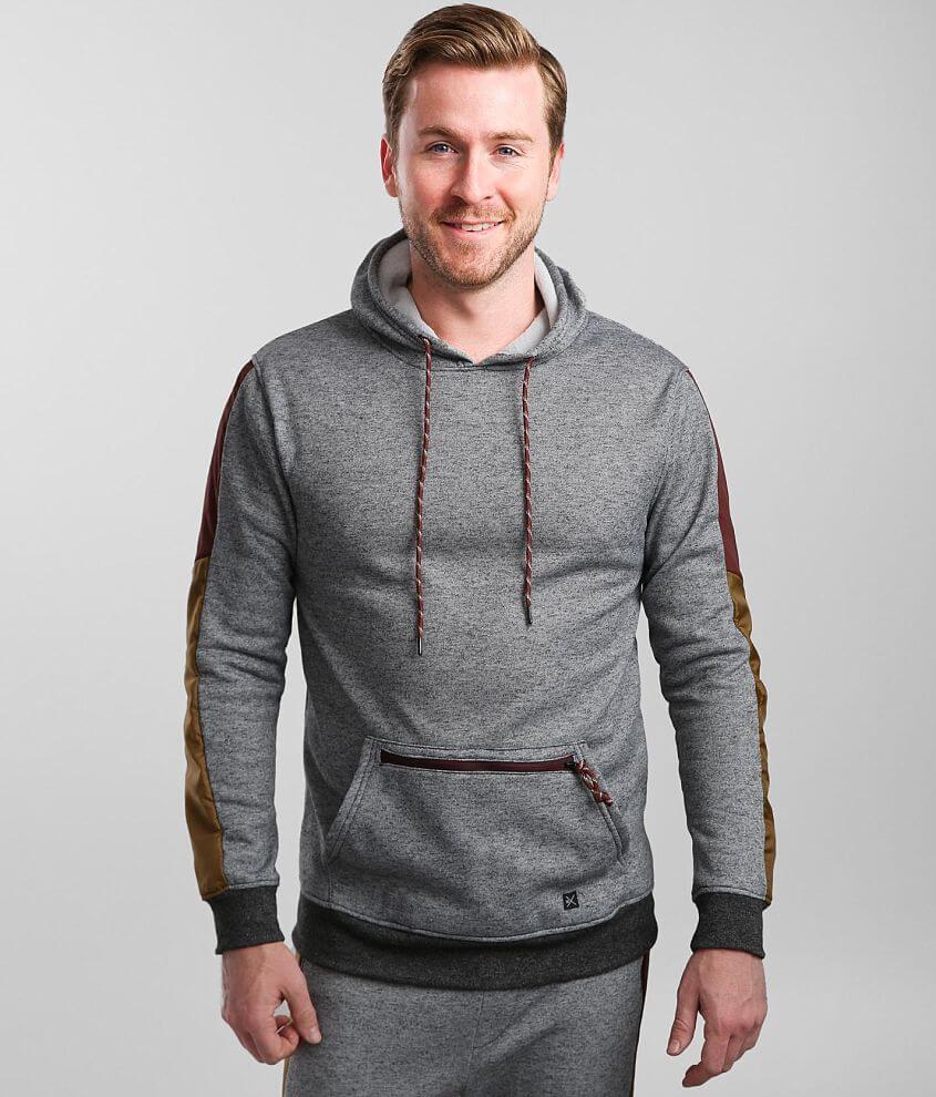 Departwest Pieced Nylon Hooded Sweatshirt front view