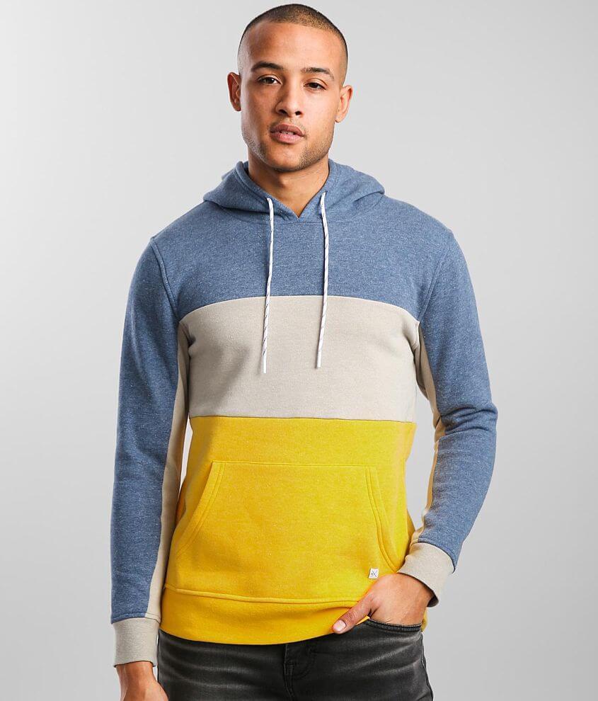 Departwest Color Block Hooded Sweatshirt front view