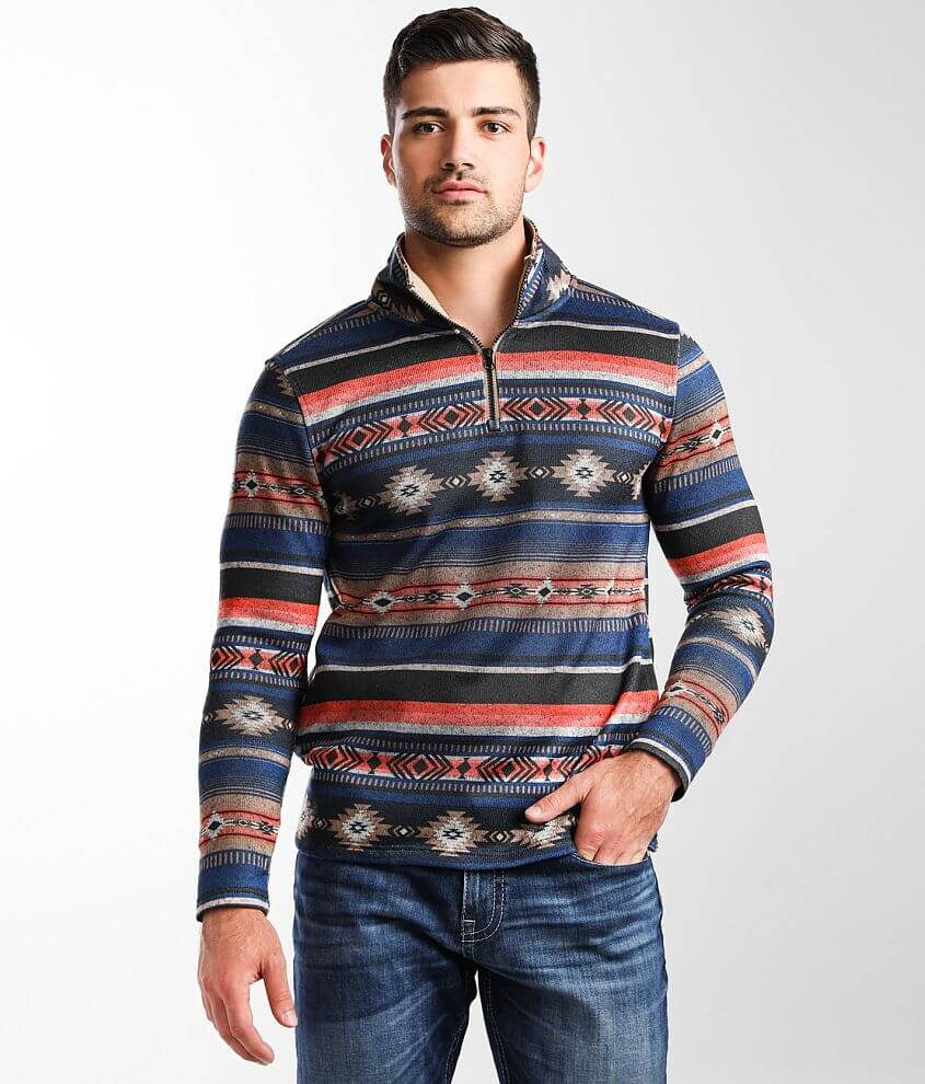 Departwest Southwestern Print Pullover front view