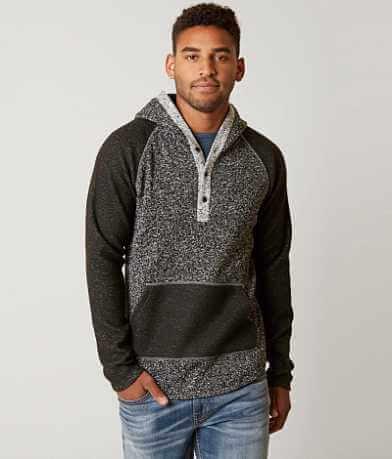 BKE Marled Henley Sweatshirt