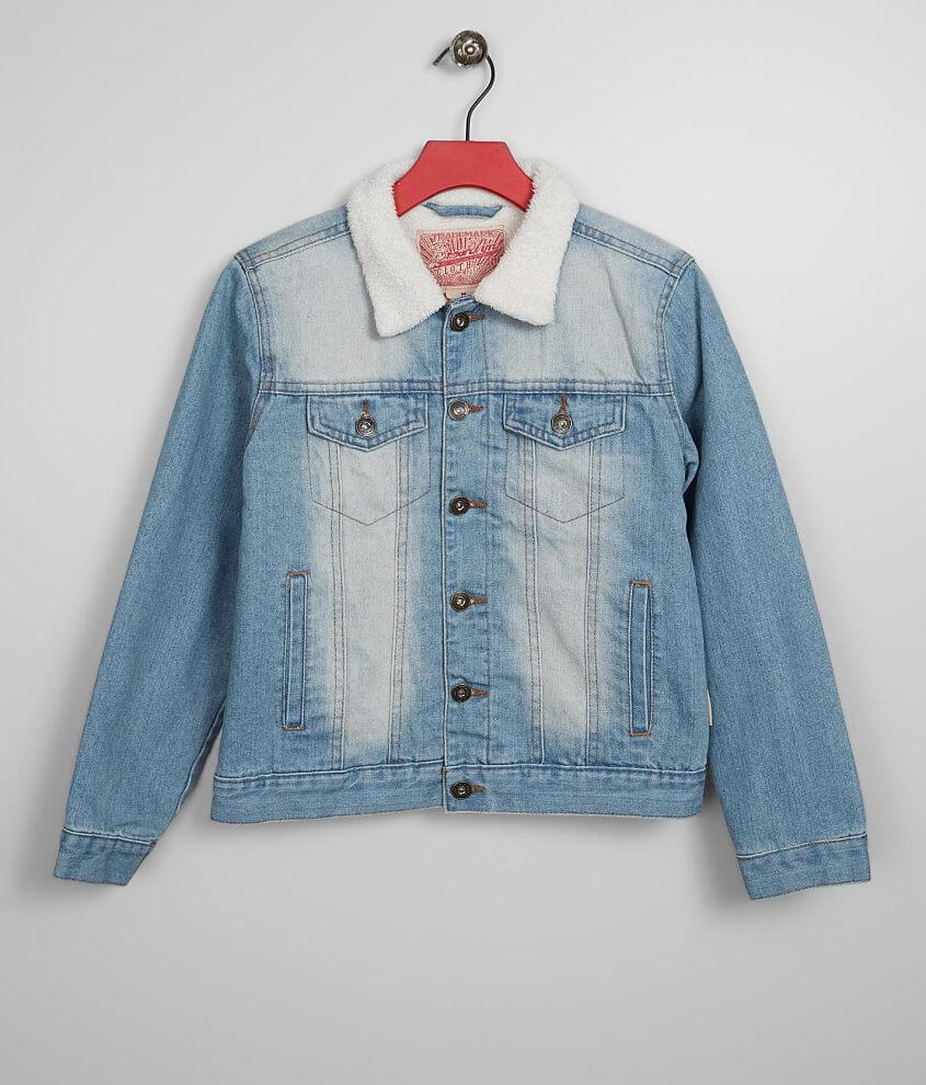 Boys - Brooklyn Cloth Washed Denim Jacket front view