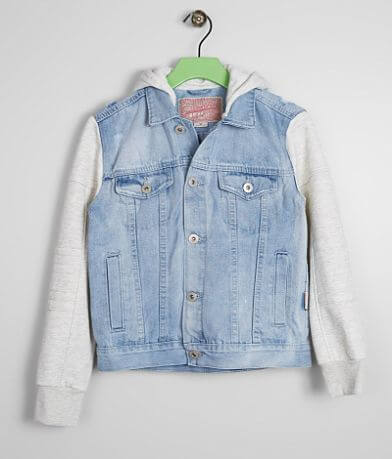 Boys - Brooklyn Cloth Moto Pieced Denim Jacket
