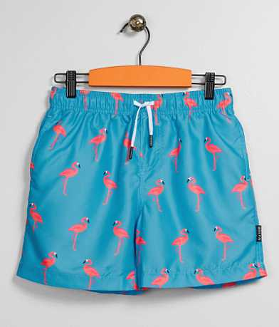 Boys - Brooklyn Cloth Flamingo Volley Boardshorts