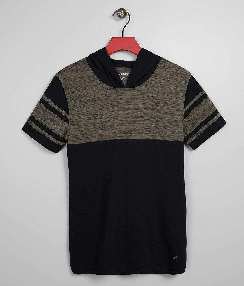Heathered color block t-shirt