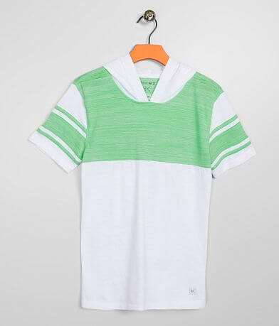 Boys - Departwest Applique Stripe Hooded T-Shirt