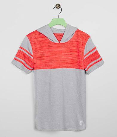 Boys - Departwest Applique Stripe Hooded T-Shirt