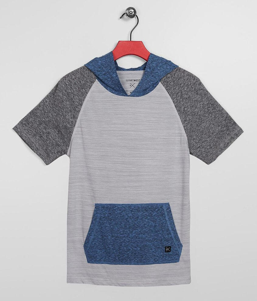 Boys - Departwest Color Block Hooded T-Shirt front view