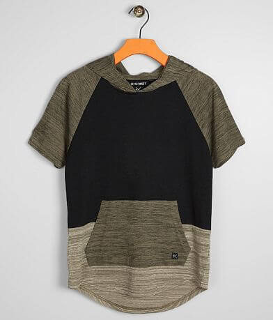 Boys - Departwest Triple Block Hooded T-Shirt