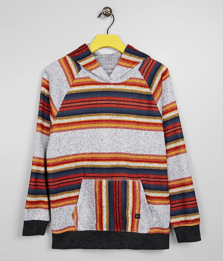 Boys - Departwest Striped Hoodie front view