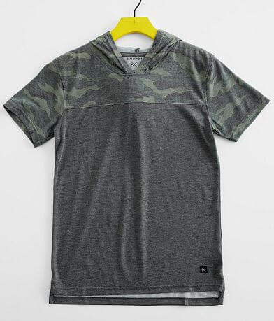 Boys - Departwest Camo Color Block Hooded T-Shirt