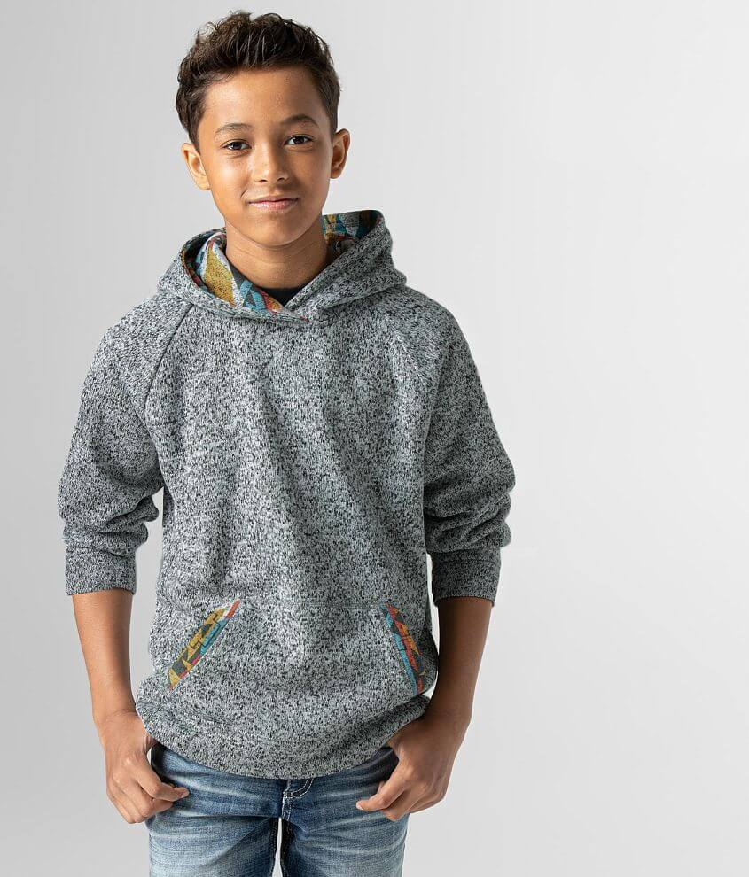 Boys - Departwest Crossover Cozy Hooded Sweatshirt front view